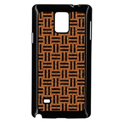 Woven1 Black Marble & Teal Leather Samsung Galaxy Note 4 Case (black) by trendistuff
