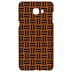 Woven1 Black Marble & Teal Leather Samsung C9 Pro Hardshell Case  by trendistuff
