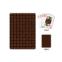 Woven1 Black Marble & Teal Leather (r) Playing Cards (mini)  by trendistuff