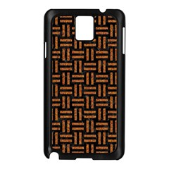 Woven1 Black Marble & Teal Leather (r)	 Samsung Galaxy Note 3 N9005 Case (black) by trendistuff