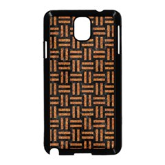 Woven1 Black Marble & Teal Leather (r)	 Samsung Galaxy Note 3 Neo Hardshell Case (black) by trendistuff