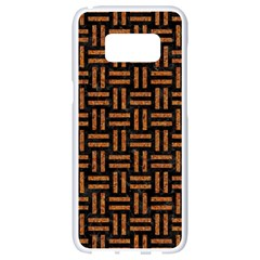 Woven1 Black Marble & Teal Leather (r)	 Samsung Galaxy S8 White Seamless Case by trendistuff