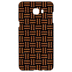 Woven1 Black Marble & Teal Leather (r)	 Samsung C9 Pro Hardshell Case  by trendistuff