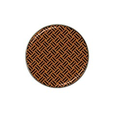 Woven2 Black Marble & Teal Leather Hat Clip Ball Marker (4 Pack) by trendistuff