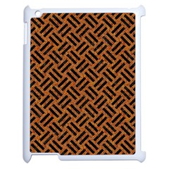 Woven2 Black Marble & Teal Leather Apple Ipad 2 Case (white) by trendistuff