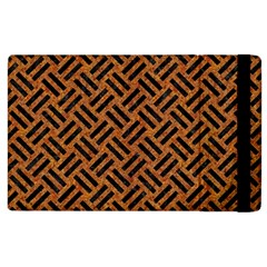 Woven2 Black Marble & Teal Leather Apple Ipad 2 Flip Case by trendistuff