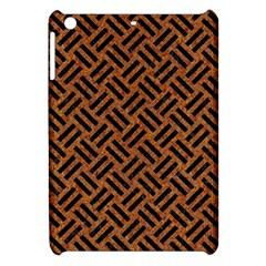 Woven2 Black Marble & Teal Leather Apple Ipad Mini Hardshell Case