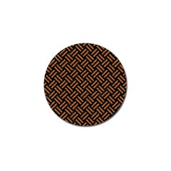 Woven2 Black Marble & Teal Leather (r) Golf Ball Marker (4 Pack) by trendistuff