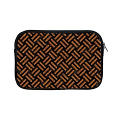 Woven2 Black Marble & Teal Leather (r) Apple Ipad Mini Zipper Cases by trendistuff
