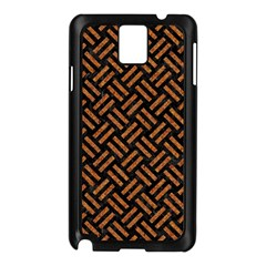 Woven2 Black Marble & Teal Leather (r) Samsung Galaxy Note 3 N9005 Case (black) by trendistuff