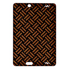 Woven2 Black Marble & Teal Leather (r) Amazon Kindle Fire Hd (2013) Hardshell Case by trendistuff