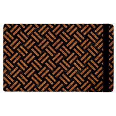Woven2 Black Marble & Teal Leather (r) Apple Ipad Pro 12 9   Flip Case by trendistuff