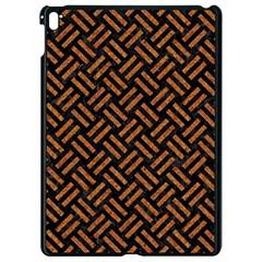 Woven2 Black Marble & Teal Leather (r) Apple Ipad Pro 9 7   Black Seamless Case by trendistuff