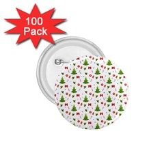 Christmas Pattern 1 75  Buttons (100 Pack)  by Valentinaart