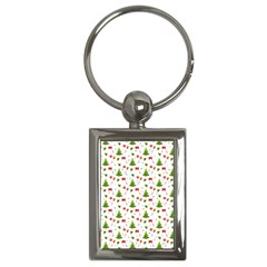 Christmas Pattern Key Chains (rectangle)  by Valentinaart