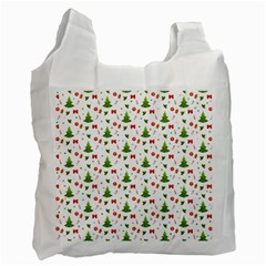 Christmas Pattern Recycle Bag (one Side) by Valentinaart