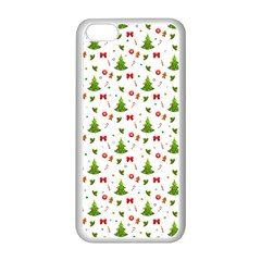 Christmas Pattern Apple Iphone 5c Seamless Case (white) by Valentinaart