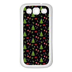 Christmas Pattern Samsung Galaxy S3 Back Case (white) by Valentinaart