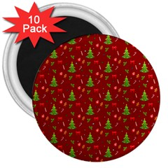 Christmas Pattern 3  Magnets (10 Pack)  by Valentinaart