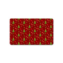 Christmas Pattern Magnet (name Card) by Valentinaart