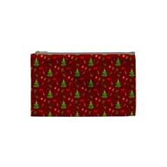 Christmas Pattern Cosmetic Bag (small)  by Valentinaart