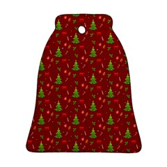 Christmas Pattern Bell Ornament (two Sides) by Valentinaart