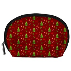 Christmas Pattern Accessory Pouches (large)  by Valentinaart