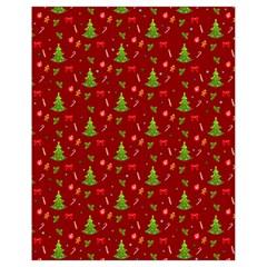 Christmas Pattern Drawstring Bag (small) by Valentinaart