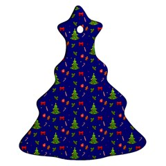 Christmas Pattern Christmas Tree Ornament (two Sides) by Valentinaart