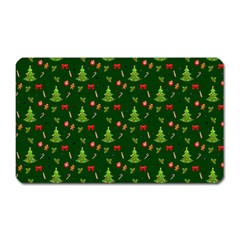Christmas Pattern Magnet (rectangular) by Valentinaart