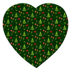 Christmas Pattern Jigsaw Puzzle (heart) by Valentinaart