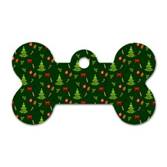 Christmas Pattern Dog Tag Bone (one Side) by Valentinaart