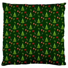 Christmas Pattern Large Flano Cushion Case (two Sides) by Valentinaart