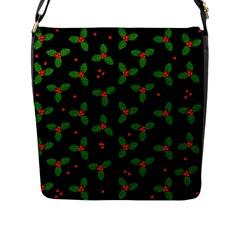 Christmas Pattern Flap Messenger Bag (l)  by Valentinaart