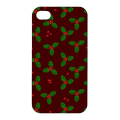 Christmas Pattern Apple Iphone 4/4s Hardshell Case by Valentinaart