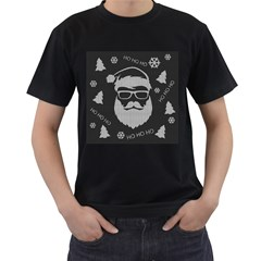 Ugly Christmas Sweater Men s T Shirt (black) by Valentinaart