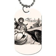 Vintage Thanksgiving Dog Tag (two Sides) by Valentinaart