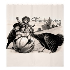 Vintage Thanksgiving Shower Curtain 66  X 72  (large)  by Valentinaart