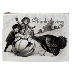 Vintage Thanksgiving Cosmetic Bag (xxl)  by Valentinaart