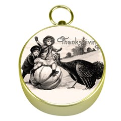 Vintage Thanksgiving Gold Compasses by Valentinaart