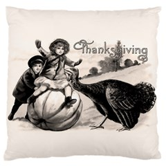Vintage Thanksgiving Standard Flano Cushion Case (one Side) by Valentinaart