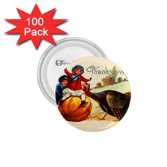 Vintage Thanksgiving 1 75  Buttons (100 Pack)  by Valentinaart