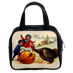 Vintage Thanksgiving Classic Handbags (2 Sides) by Valentinaart