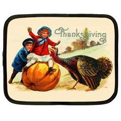 Vintage Thanksgiving Netbook Case (xl)  by Valentinaart