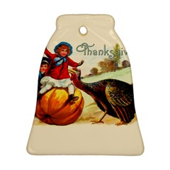 Vintage Thanksgiving Bell Ornament (two Sides) by Valentinaart