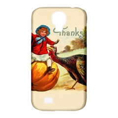Vintage Thanksgiving Samsung Galaxy S4 Classic Hardshell Case (pc+silicone) by Valentinaart
