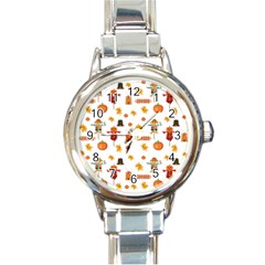 Thanksgiving Round Italian Charm Watch by Valentinaart