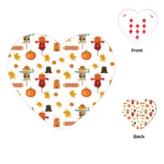 Thanksgiving Playing Cards (heart)  by Valentinaart