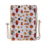 Thanksgiving Drawstring Bag (Small) Back
