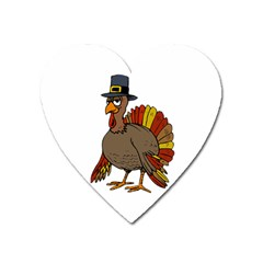 Thanksgiving Turkey  Heart Magnet by Valentinaart
